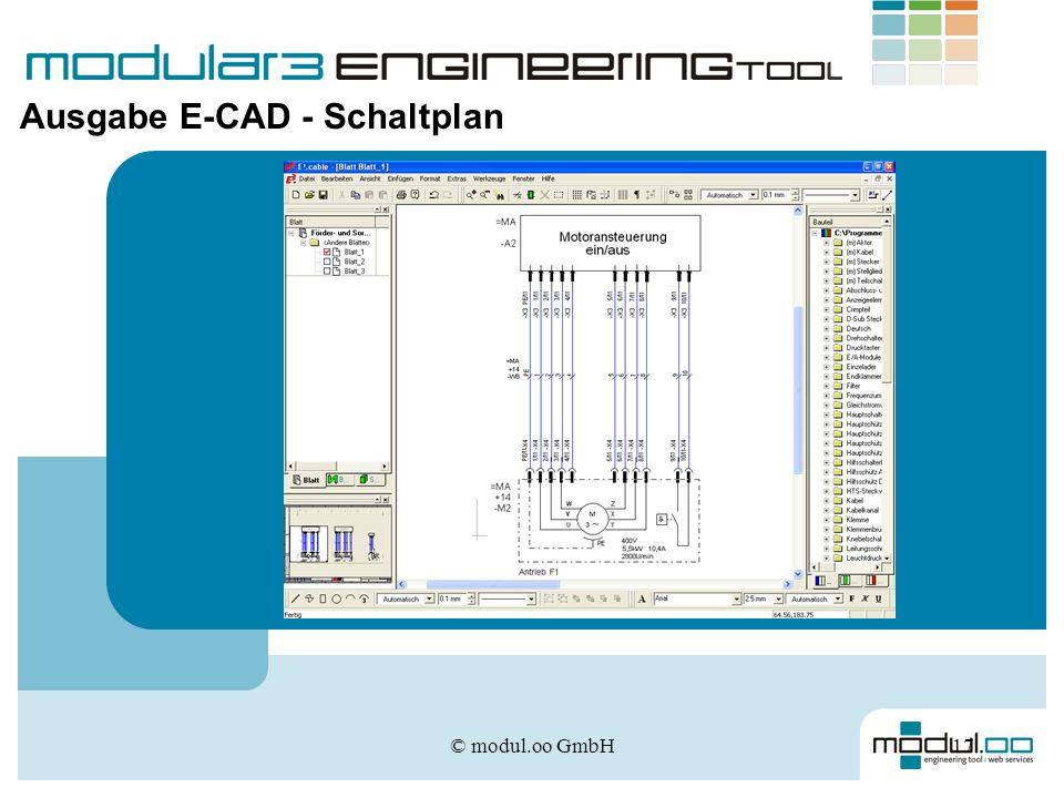 © modul.oo GmbH17 Ausgabe E-CAD - Schaltplan