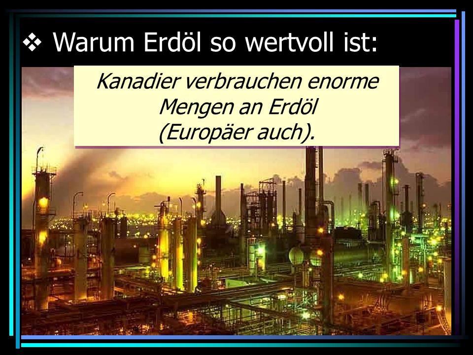 In vielen Teilen der Welt wird Erdöl zur Erzeugung von Strom benutzt