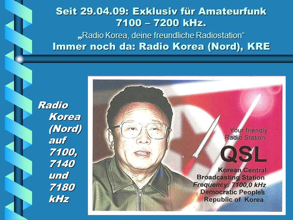 Seit 29.04.09: Exklusiv für Amateurfunk 7100 – 7200 kHz.