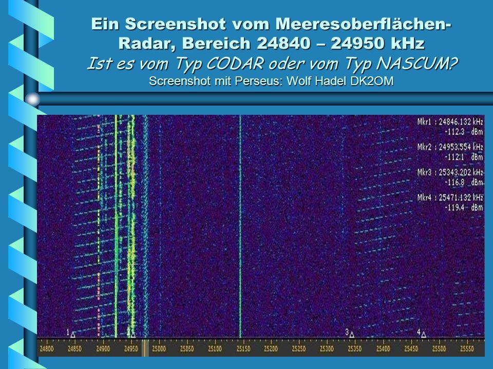 Ein Screenshot vom Meeresoberflächen- Radar, Bereich 24840 – 24950 kHz Ist es vom Typ CODAR oder vom Typ NASCUM.
