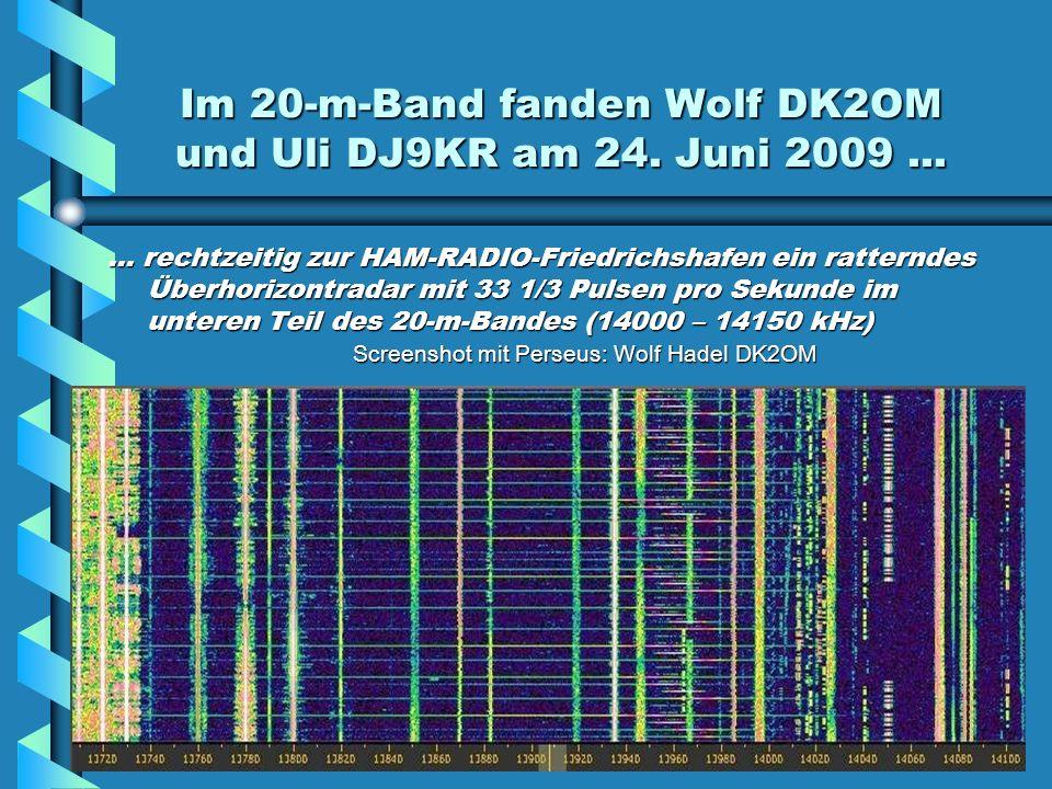 Im 20-m-Band fanden Wolf DK2OM und Uli DJ9KR am 24.