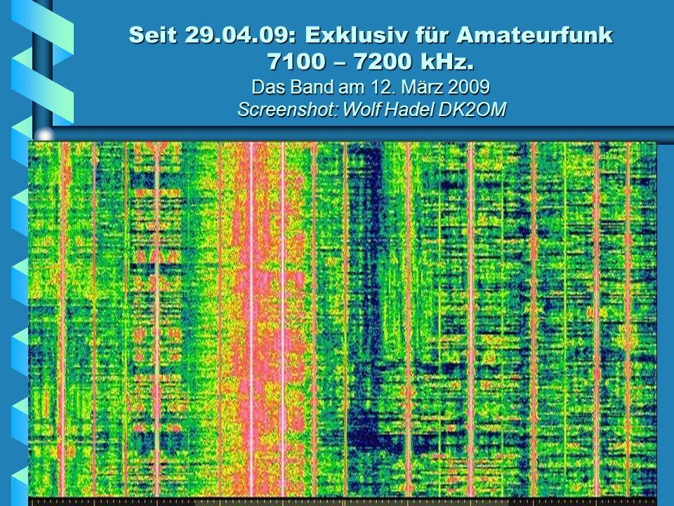 Ein CODAR-Meeresoberflächen-Radar stört den Bereich 24840 – 24950 kHz Die Insel Pag in der Dalmatinischen Adria