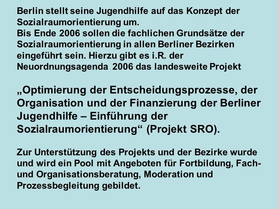 Berlin stellt seine Jugendhilfe auf das Konzept der Sozialraumorientierung um. Bis Ende 2006 sollen die fachlichen Grundsätze der Sozialraumorientieru
