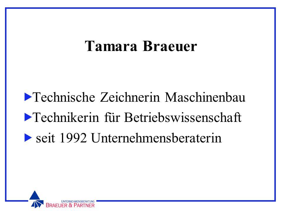 Tamara Braeuer Technische Zeichnerin Maschinenbau Technikerin für Betriebswissenschaft seit 1992 Unternehmensberaterin