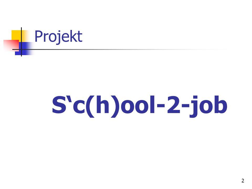 2 Projekt Sc(h)ool-2-job