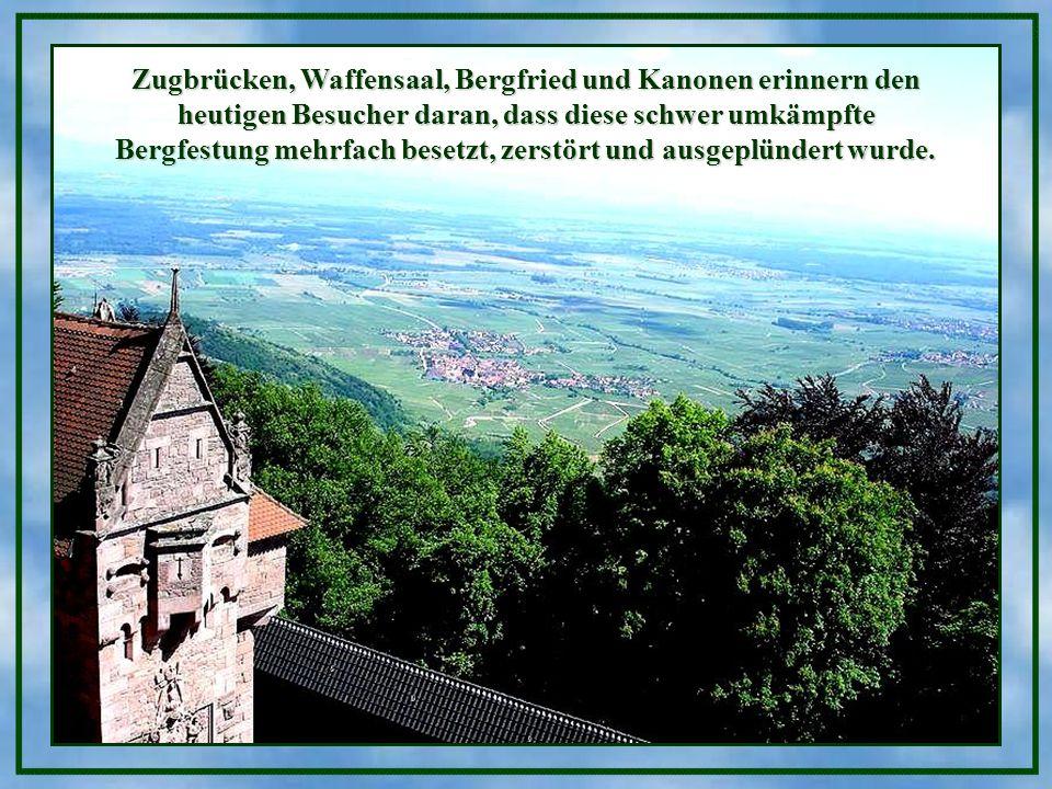 Ein Brunnen dieser Burg. * * * * Wer das Tor der Burg Haut-Kœnigsbourg durchschreitet, tritt eine Zeitreise ins Mittelalter an. Ihr Weg führt Sie vom