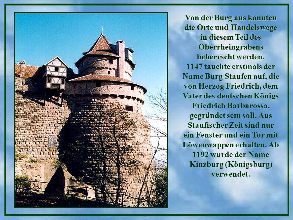 Von der Burg aus konnten die Orte und Handelswege in diesem Teil des Oberrheingrabens beherrscht werden.