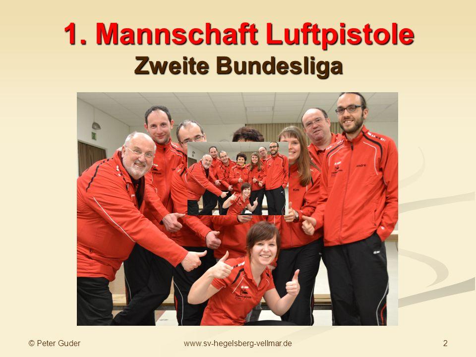 © Peter Guder 2www.sv-hegelsberg-vellmar.de 1. Mannschaft Luftpistole Zweite Bundesliga