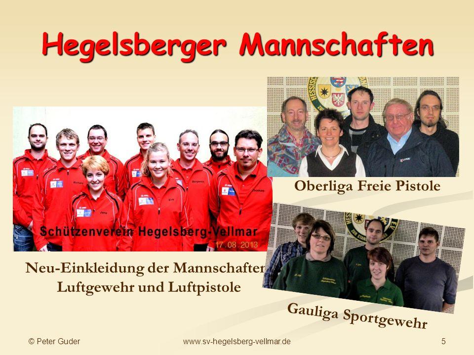 © Peter Guder 5www.sv-hegelsberg-vellmar.de Hegelsberger Mannschaften Neu-Einkleidung der Mannschaften Luftgewehr und Luftpistole Oberliga Freie Pisto