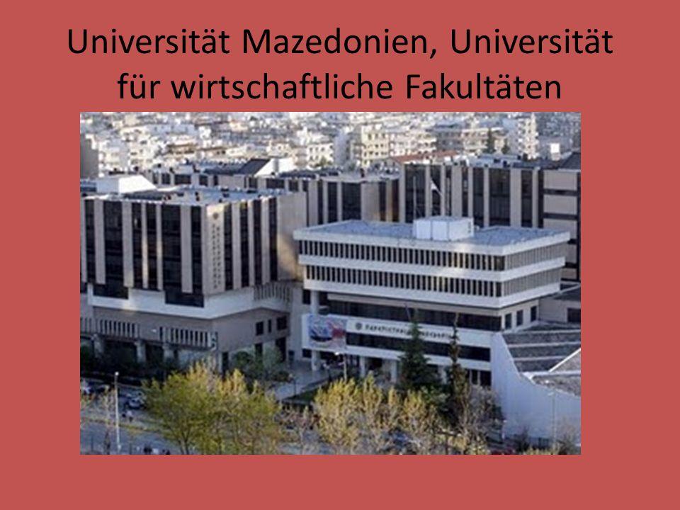 Universität Mazedonien, Universität für wirtschaftliche Fakultäten