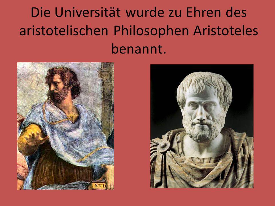 Der Aristoteles- Universitätskomplex ist die größte Bildungseinrichtung in Griechenland.