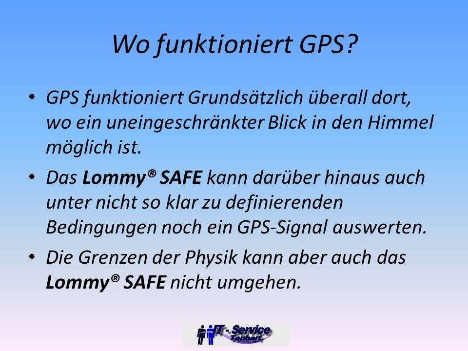 Wo funktioniert GPS.