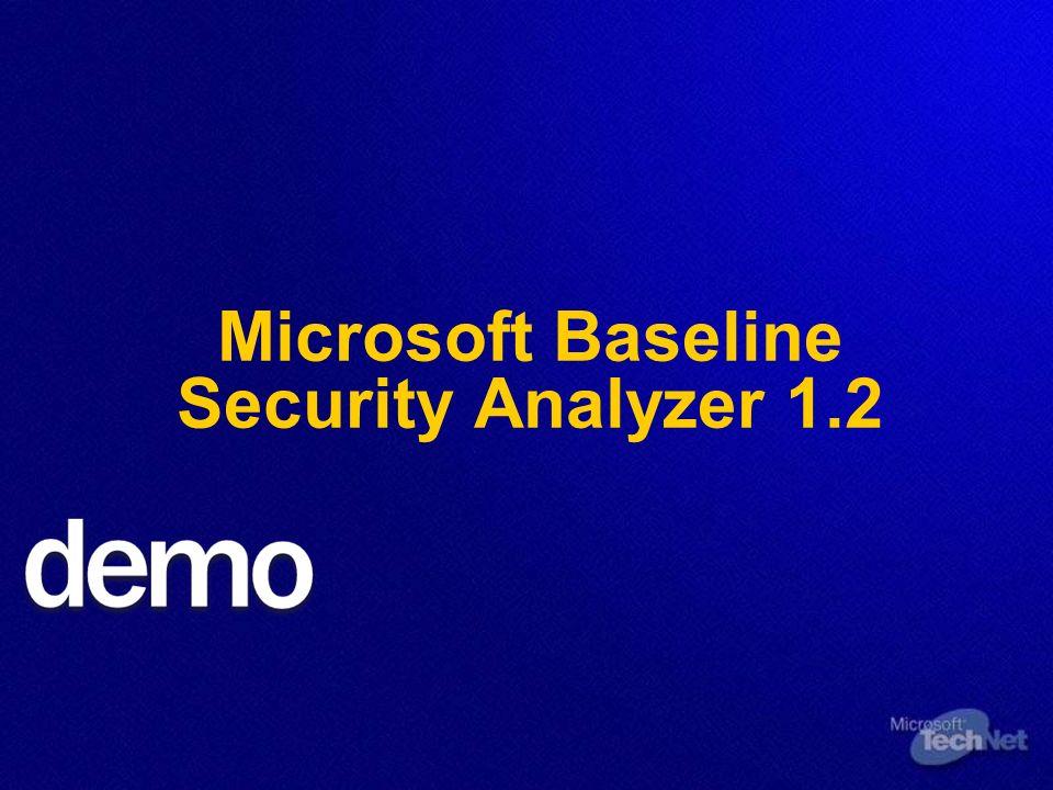 Microsoft Baseline Security Analyzer 1.2