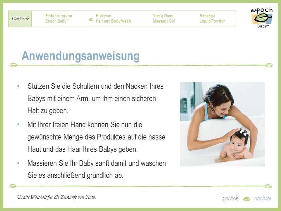 Einführung von Epoch Baby Hibiscus Hair and Body Wash Ylang Massage Gel Babassu Liquid Powder Startseite zurücknächste Uralte Weisheit für die Zukunft von heute.