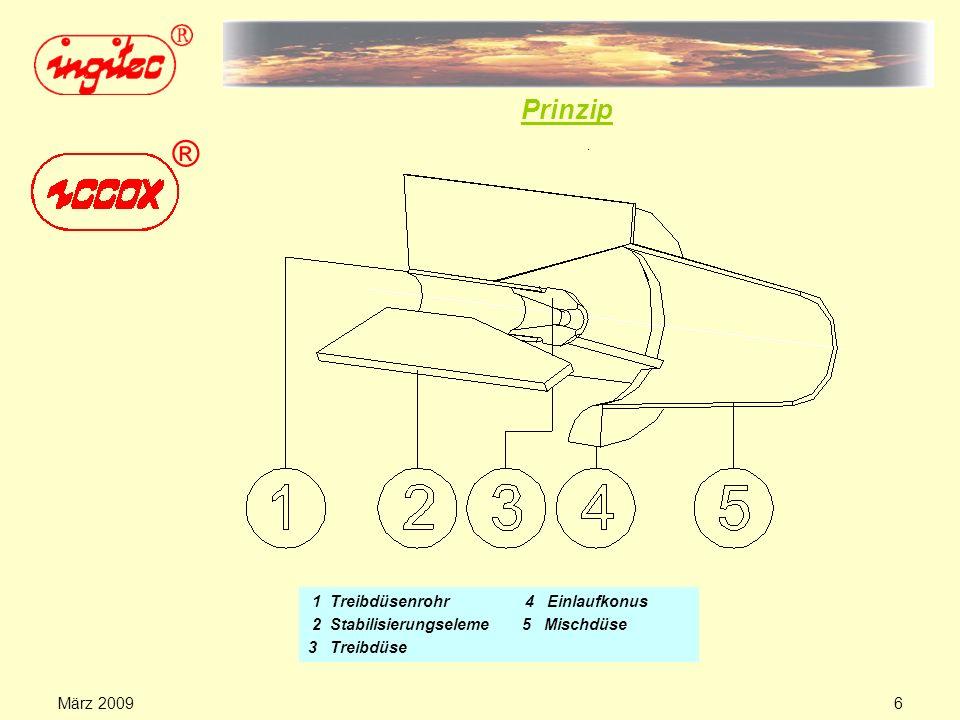 März 20095 Verzicht auf die separate Injektorwindleitung des TDI-Verfahrens Minimierung des Planungs-, Material- und Kostenaufwandes für Anlagentechni