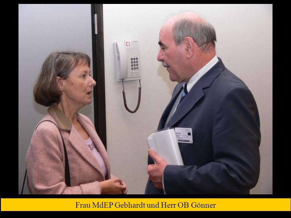 Frau MdEP Gebhardt und Herr OB Gönner