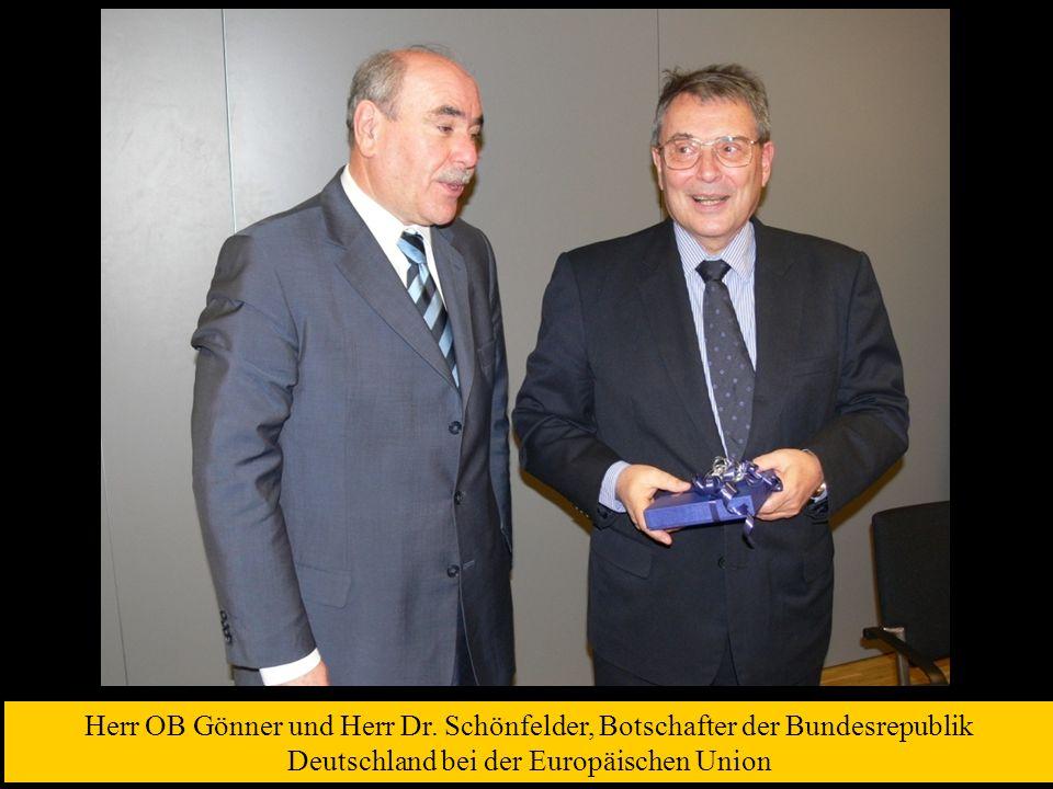 Herr OB Gönner und Herr Dr.