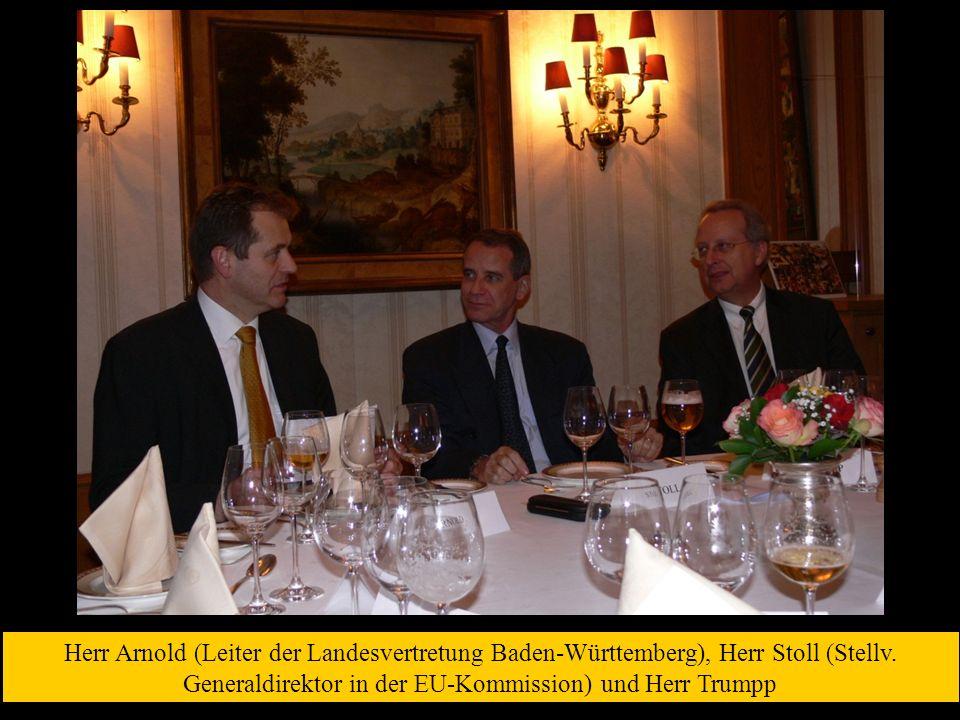 Herr Arnold (Leiter der Landesvertretung Baden-Württemberg), Herr Stoll (Stellv.