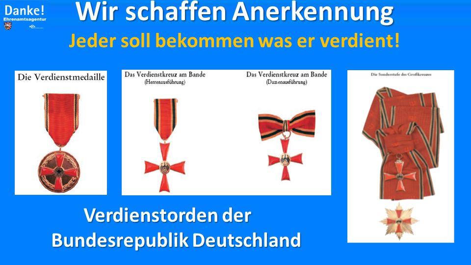 Ehrenplakette des Hessischen Ministerpräsidenten Wir schaffen Anerkennung Wir schaffen Anerkennung Jeder soll bekommen was er verdient.