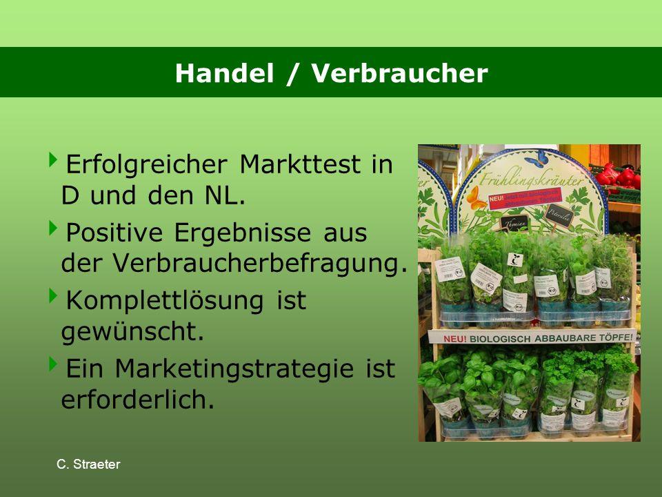 C.Straeter Handel / Verbraucher Erfolgreicher Markttest in D und den NL.