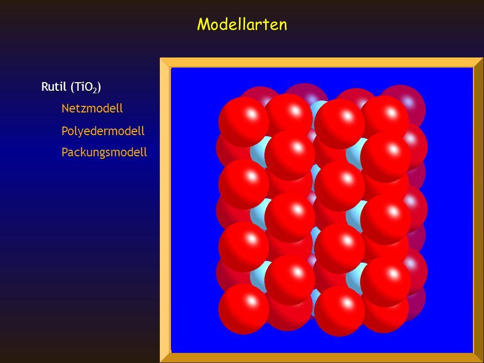 Rutil (TiO 2 ) Netzmodell Polyedermodell Packungsmodell Modellarten