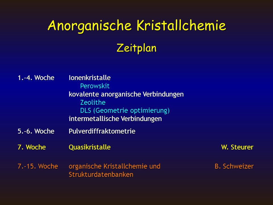 Radienverhältnis AX AX 2 CsCl-TypNaCl-Typ CaF 2 -Typ TiO 2 -Typ >0.73 0.73 - 0.41 >0.73 CsCl CsCl0.91 KF KF1.00 KCl KCl0.73 MgSe MgSe0.41 BaF 2 BaF 2 1.05 ZrO 2 ZrO 2 0.67 TeO 2 TeO 2 0.67 MnO 2 MnO 2 0.39 CsBr CsBr0.84 SrO SrO0.96 SrS SrS0.73 LiBr LiBr0.40 PbF 2 PbF 2 0.99 HfO 2 HfO 2 0.67 MnF 2 MnF 2 0.66 GeO 2 GeO 2 0.36 CsI CsI0.75 BaO BaO1.06 RbI RbI0.68 LiI LiI0.35 SrF 2 SrF 2 0.95 0.64 PbO 2 0.64 RbF RbF0.89 KBr KBr0.68 HgF 2 HgF 2 0.84 0.62 FeF 2 0.62 RbCl RbCl0.82 SrSe SrSe0.66 ThO 2 ThO 2 0.83 0.62 CoF 2 0.62 BaS BaS0.82 CaS CaS0.61 CaF 2 CaF 2 0.80 0.62 ZnF 2 0.62 CaO CaO0.80 KI KI0.60 UO 2 UO 2 0.79 0.59 NiF 2 0.59 CsF CsF1.25 ScTe ScTe0.60 CeO 2 CeO 2 0.77 0.58 MgF 2 0.58 RbBr RbBr0.76 MgO MgO0.59 PrO 2 PrO 2 0.76 0.56 SnO 2 0.56 BaSe BaSe0.75 LiF LiF0.59 CdF 2 CdF 2 0.74 0.52 NbO 2 0.52