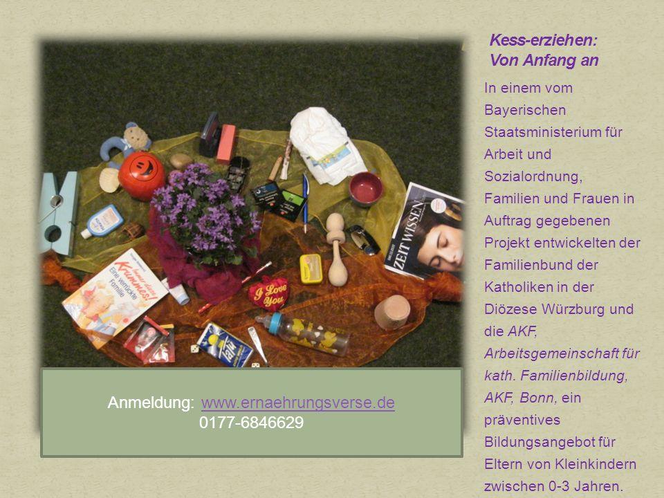 In einem vom Bayerischen Staatsministerium für Arbeit und Sozialordnung, Familien und Frauen in Auftrag gegebenen Projekt entwickelten der Familienbund der Katholiken in der Diözese Würzburg und die AKF, Arbeitsgemeinschaft für kath.