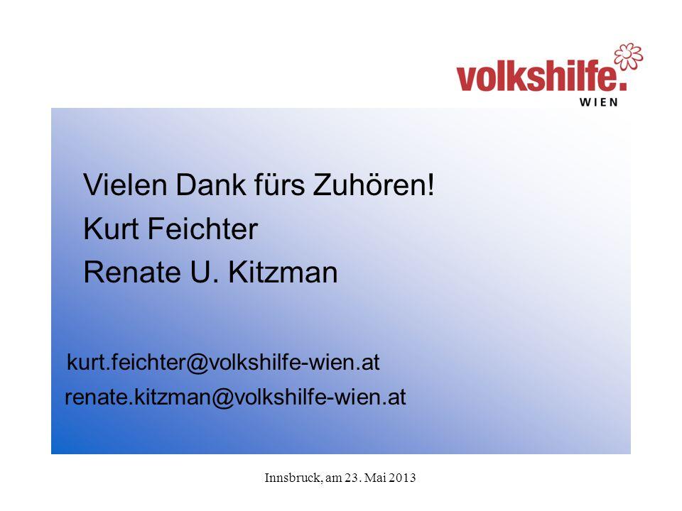 Innsbruck, am 23. Mai 2013 Vielen Dank fürs Zuhören.
