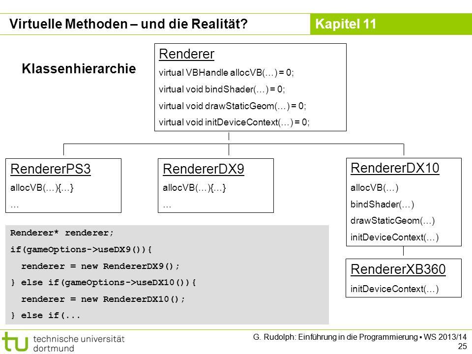 Kapitel 11 G. Rudolph: Einführung in die Programmierung WS 2013/14 25 G.