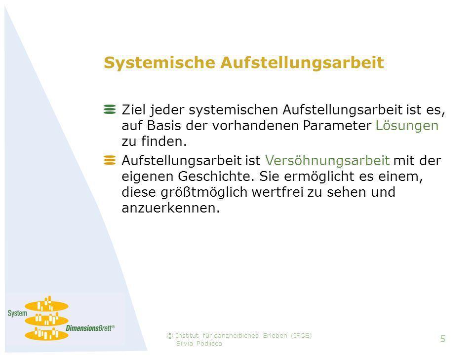 Systemische Aufstellungsarbeit Ziel jeder systemischen Aufstellungsarbeit ist es, auf Basis der vorhandenen Parameter Lösungen zu finden.