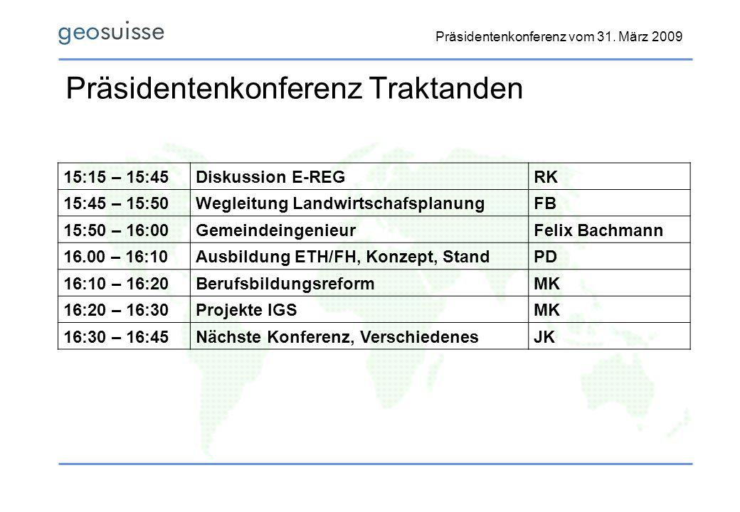 Präsidentenkonferenz vom 31.
