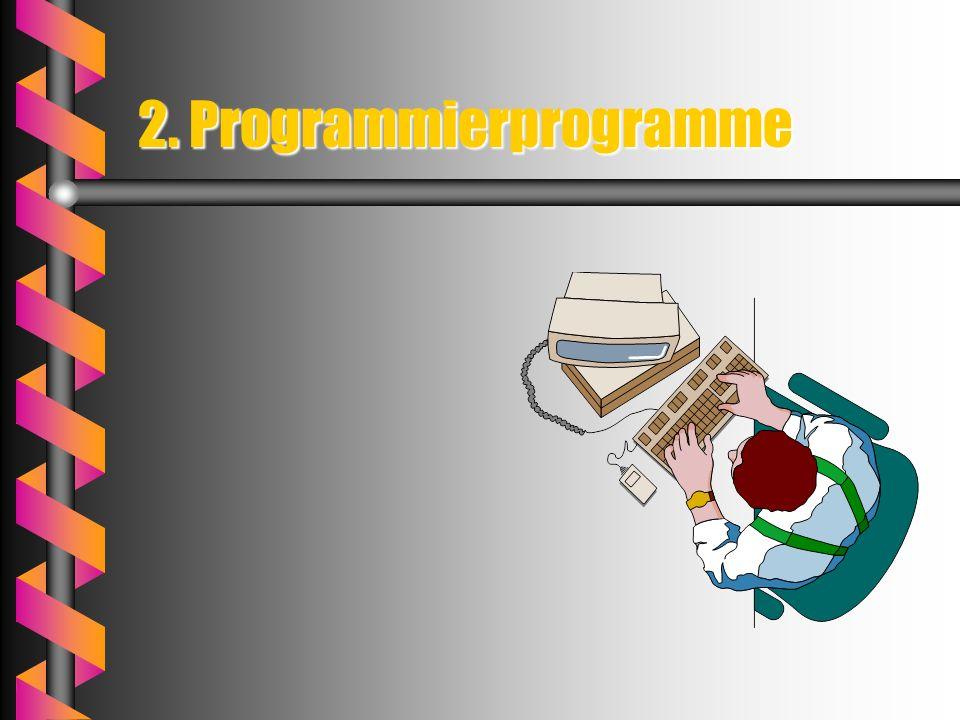 Zusammenhang Soft-wareHard-wareSystem-programme Programmier-programme System-programme steuern die Funktionen derSystem-programme steuern die Funktion
