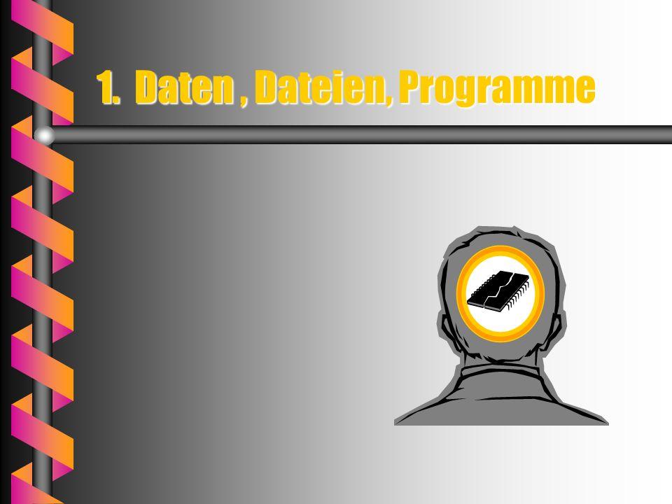 1. Daten, Dateien, Programme