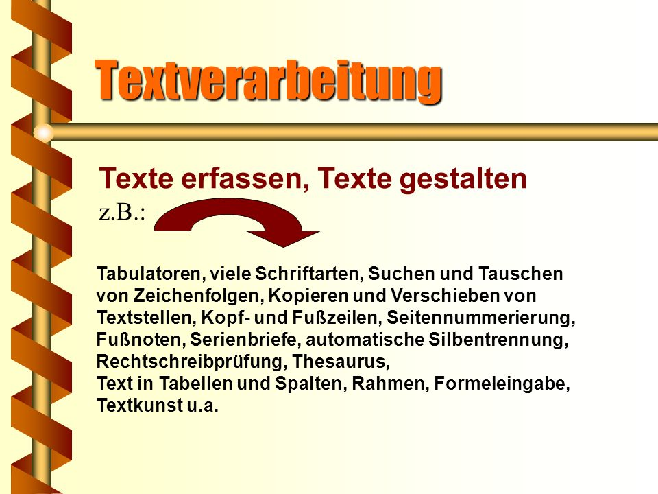 4. 1 Textverarbeitung