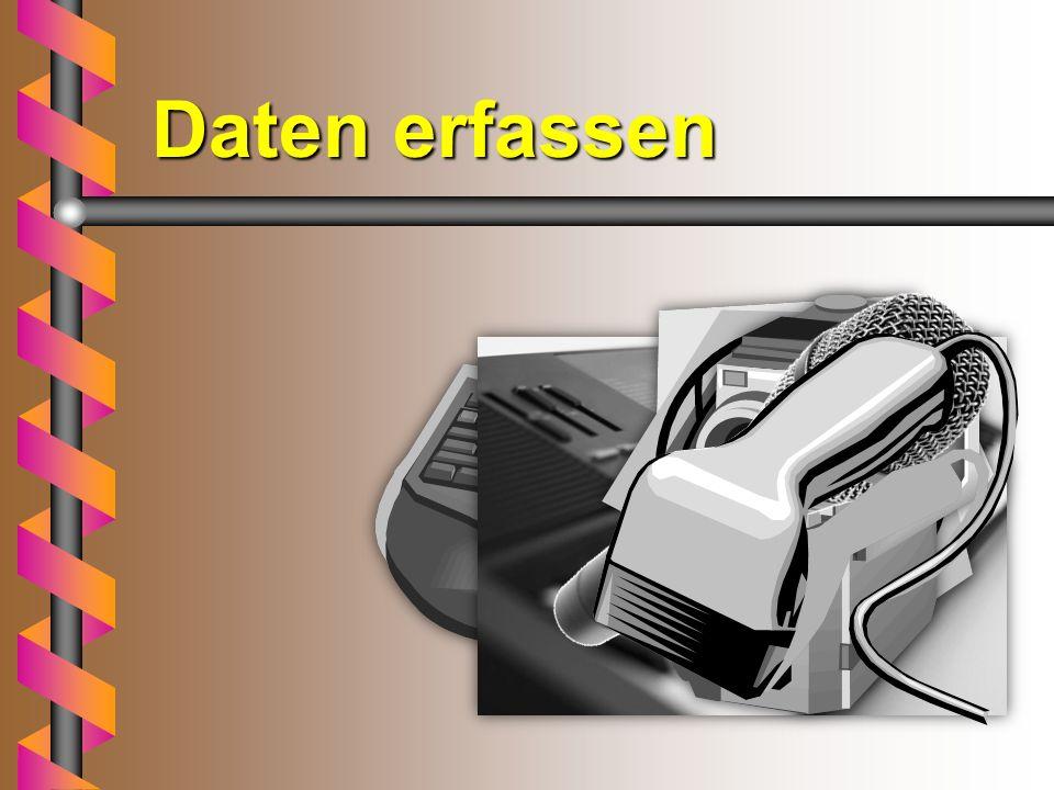Daten Daten sind Informationen in Form von Zeichen (G m ä # 45 = § ), Texten, Bildern oder Tönen. Sie sind an einen Datenträger (Diskette, Festplatte,