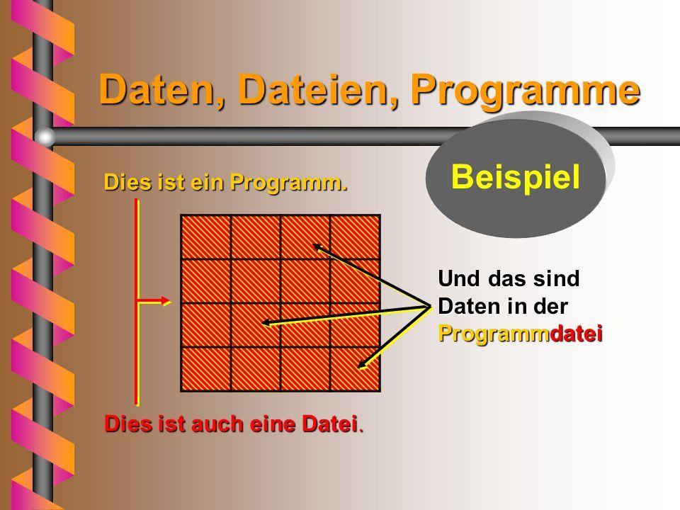 Programme Programme bestehen aus - nach den Regeln einer Programmiersprache - festgelegten Anweisungen (Befehlen) und Vereinbarungen, die zur Lösung e