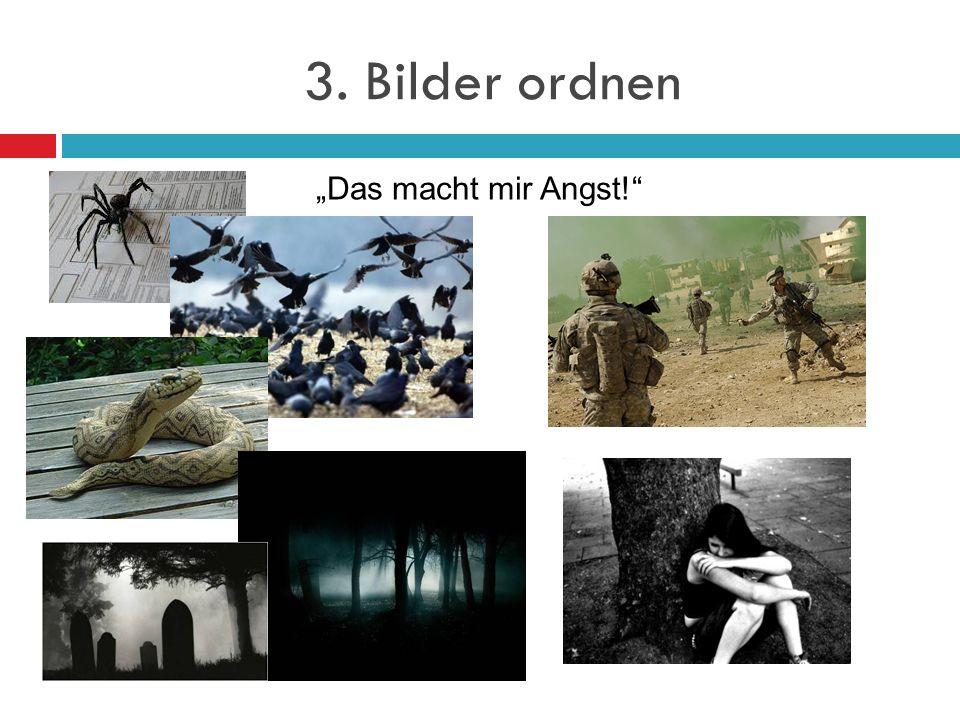 3. Bilder ordnen Das macht mir Angst!