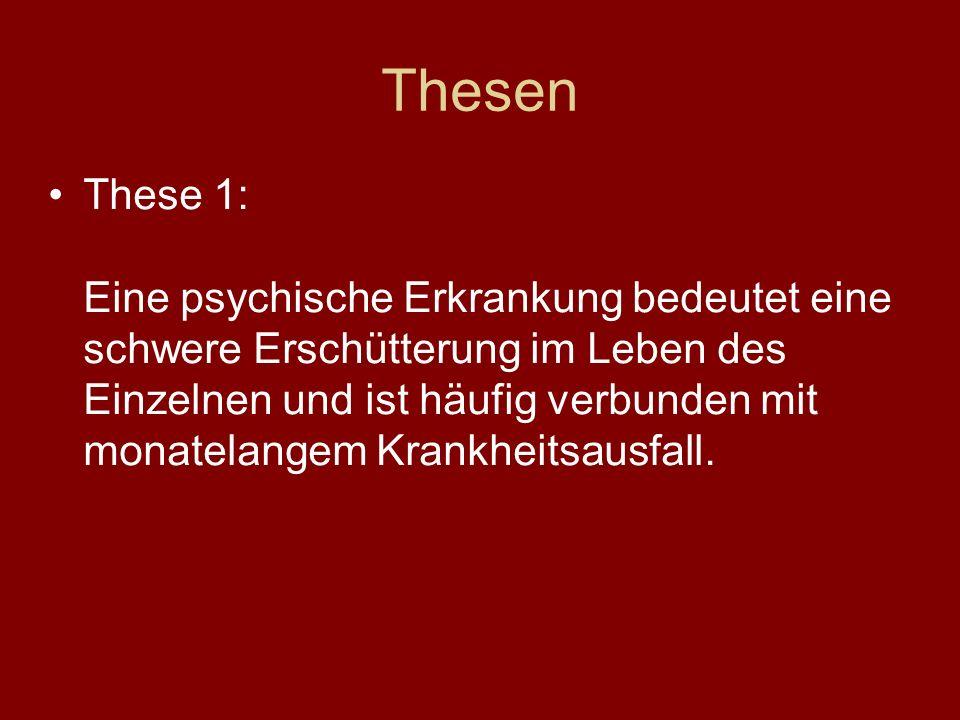 Thesen These 2: Menschen, die psychisch erkrankt sind (oder waren), sind grundsätzlich in der Lage, ein Studium aufzunehmen und zu absolvieren.