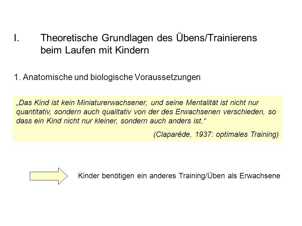 I.Theoretische Grundlagen des Übens/Trainierens beim Laufen mit Kindern 1.