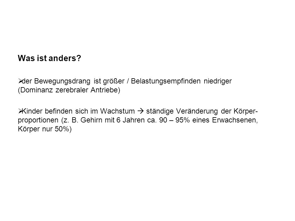 Was ist anders.