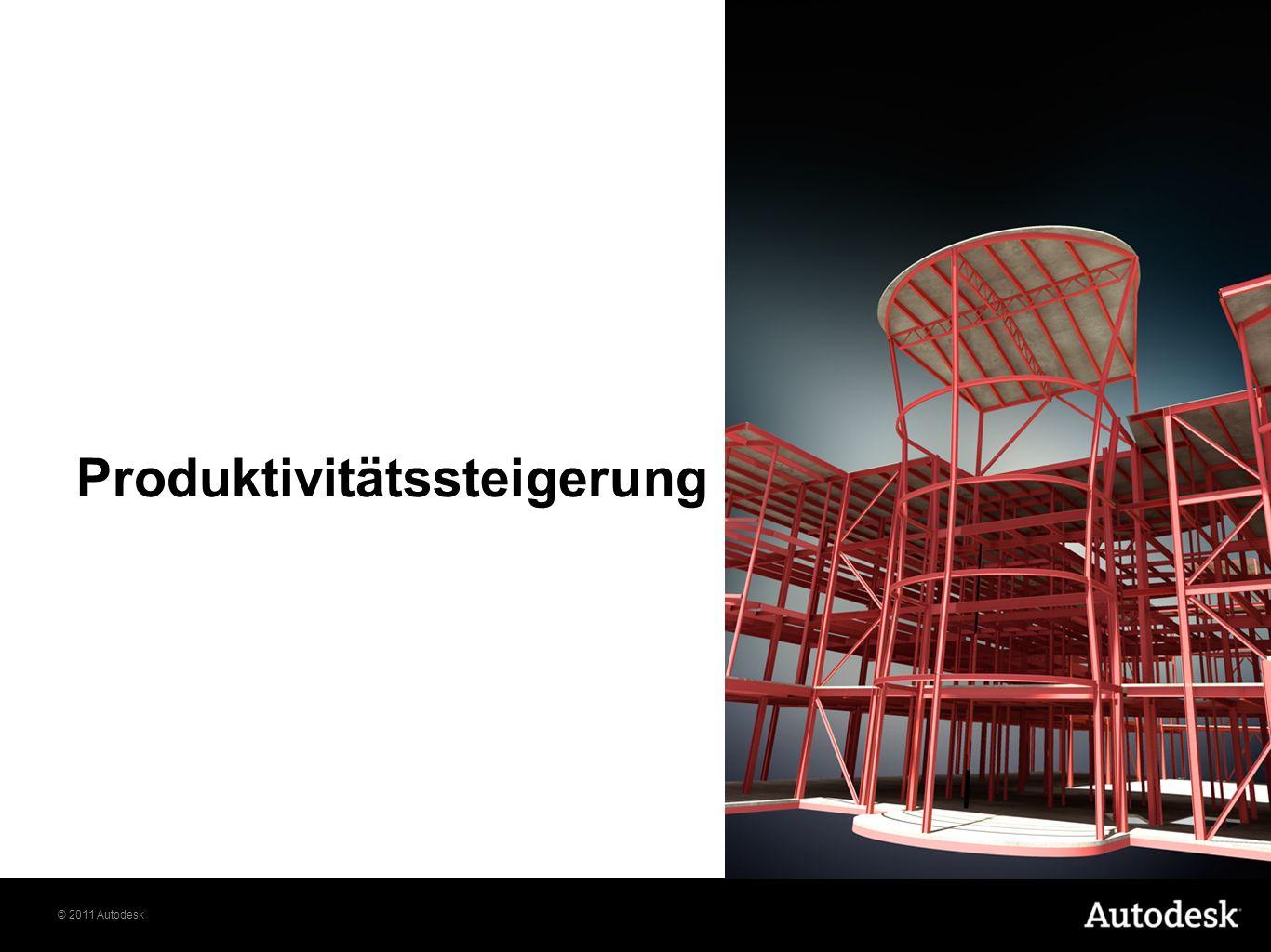 © 2011 Autodesk Produktivitätssteigerung