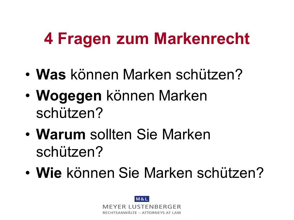 Markenrecht Dr. Michael Ritscher Dr. Mark Schweizer