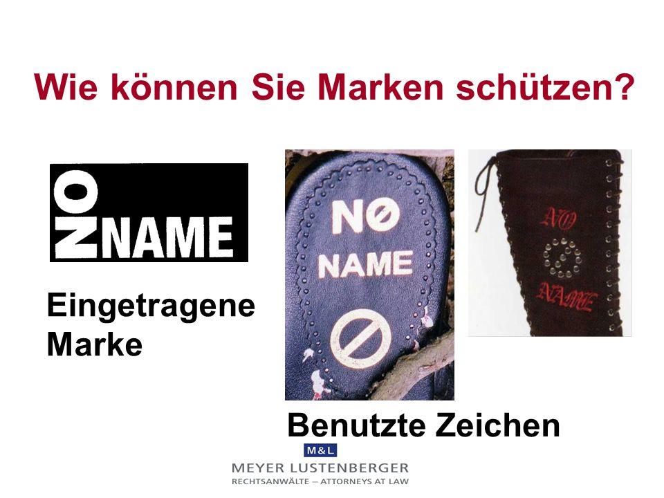 Eine Marke bleibt nur geschützt, wenn sie auch benutzt wird In den meisten Ländern beträgt die Schonfrist 5 Jahre ab Eintragung (USA: 3 Jahre) Benutzu