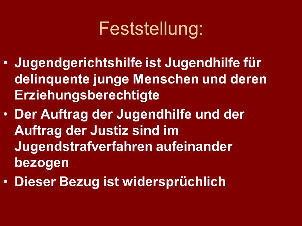 Zahlen-Beispiel Thüringen 2005 im Rahmen von Jugendstrafverfahren 31.12.2005Teilnehmer Arbeitsweisungen3.998 Täter-Opfer-Ausgleich 833 Soziale Trainingskurse 418 Betreuungsweisungen 235 ( Das sind jeweils 25% aller Hilfen nach §§ 29/39 KJHG.