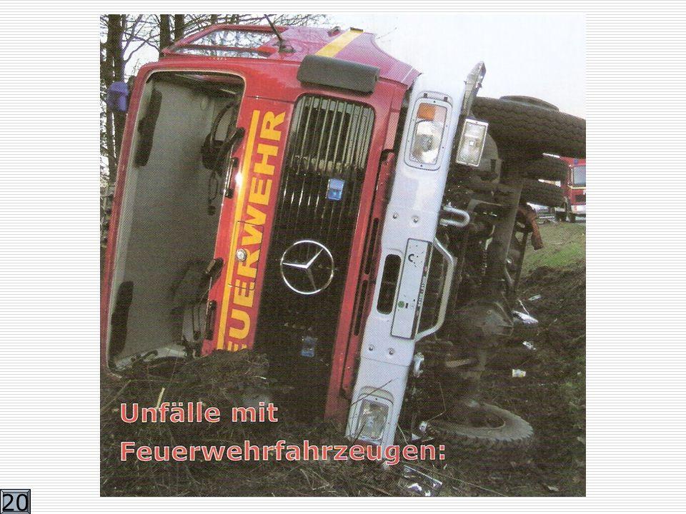 2.Die Fahrt mit Einsatzfahrzeugen Trotz Paragraphen über das Wegerecht und Sonderrecht, trotz Verhaltensregeln, Schulungen und Ausbildungen kommt es auch mit Einsatzfahrzeugen immer wieder zu schweren Unfällen.