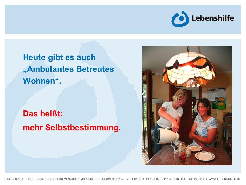 Wie leben Menschen mit Behinderung in Deutschland?Die Broschüre Leben in der Gemeinde heutestellt viele unterschiedliche Menschen vor.