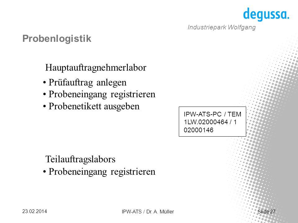 Slide 27 23.02.2014 IPW-ATS / Dr.A.