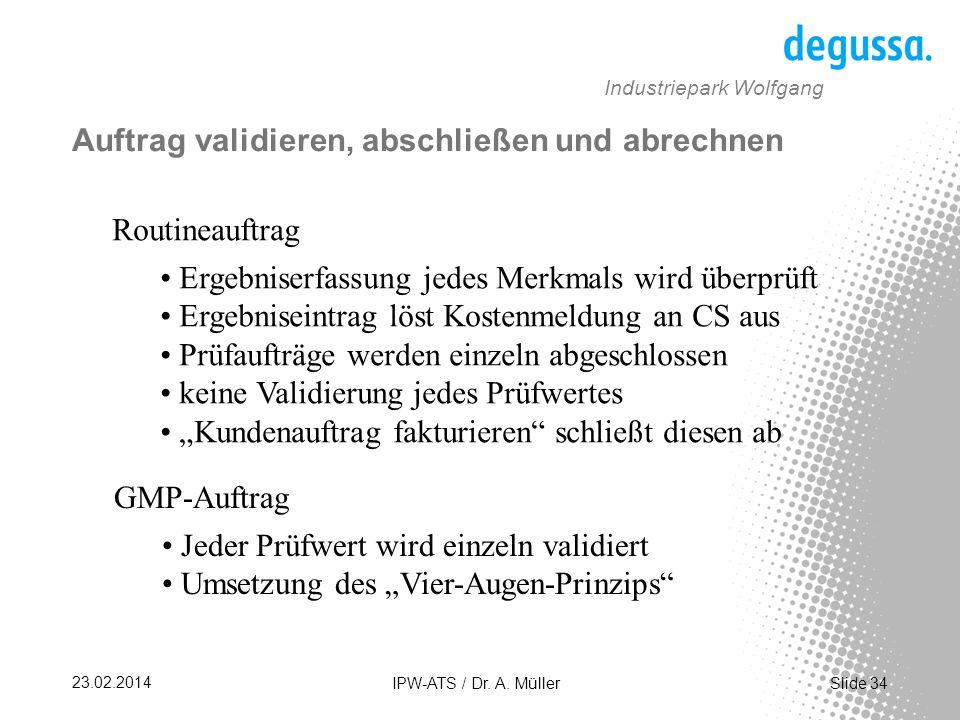 Slide 34 23.02.2014 IPW-ATS / Dr.A.