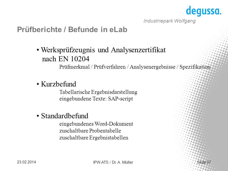 Slide 37 23.02.2014 IPW-ATS / Dr.A.