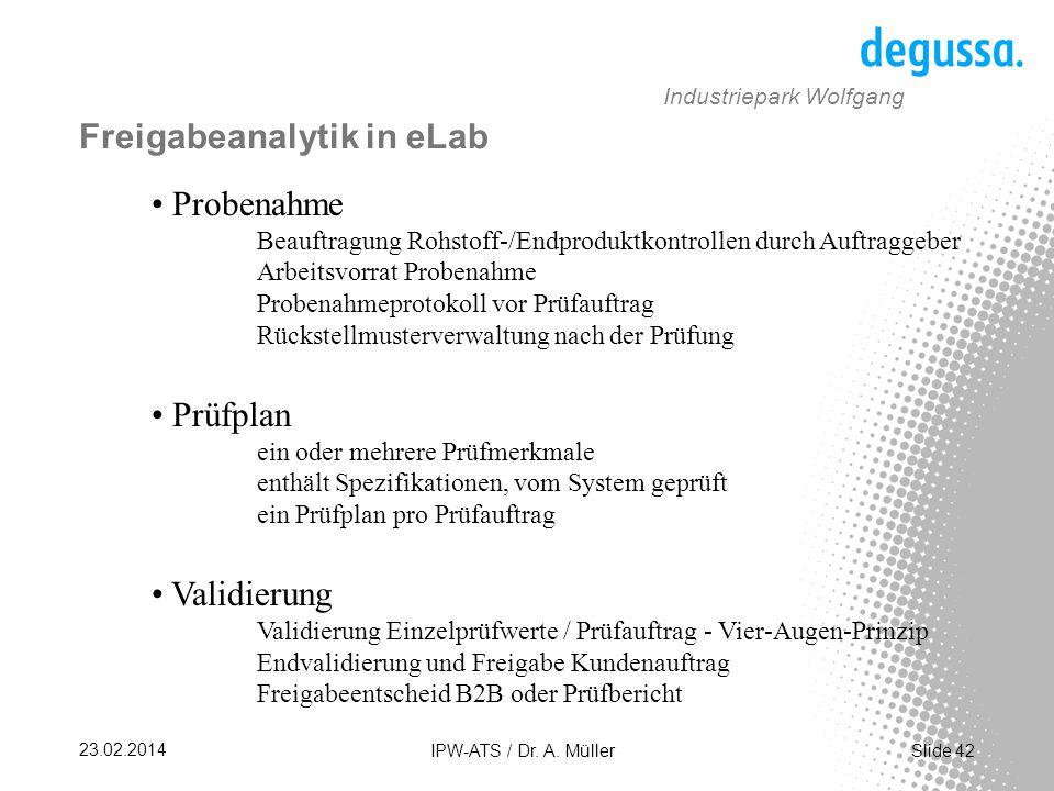 Slide 42 23.02.2014 IPW-ATS / Dr.A.